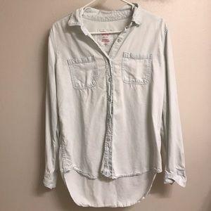 Light Denim Button-Down Shirt